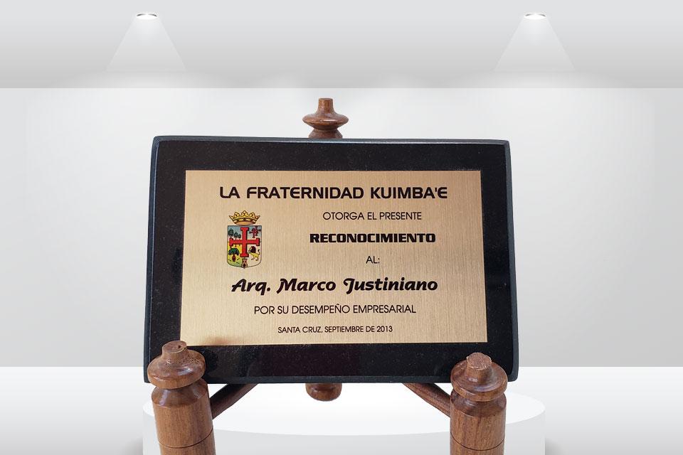 Reconociemiento Marco Justiniano
